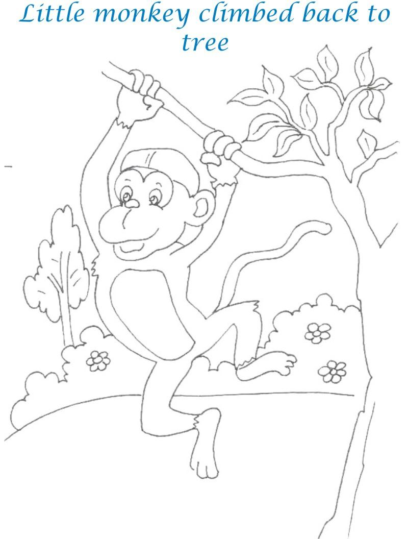 800x1056 Monkeys And The Cap Seller Story Printable Coloring Pages For Kids