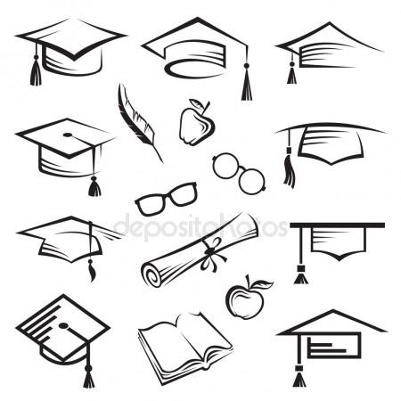 450x450 Set Of Wise Owls In Graduation Caps Stock Vector Wikki33