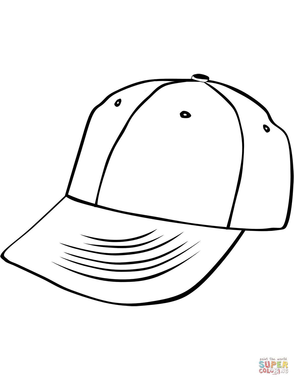 1159x1500 Baseball Cap Coloring Page Free Printable Coloring Pages