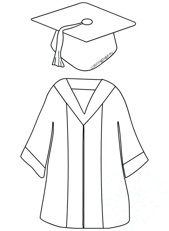 591x808 Graduation Cap Coloring Page