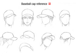 250x184 Hat Drawing Art Draw Clothes Hats Human Cap Clothing Baseball