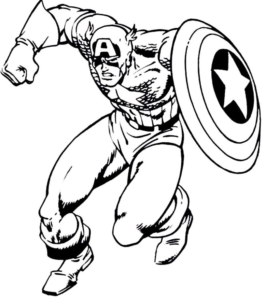 Captain America Cartoon Drawing