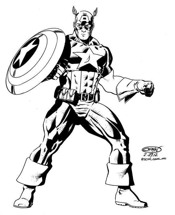 587x720 Captain America Ink 2012 By Scottcohn