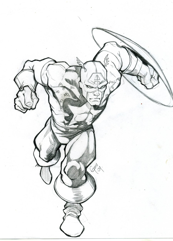 900x1251 Captain America Sktech By Romax25