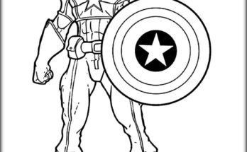 348x215 Easy Drawing Ideas Easy Draw Coloring Page Captain America. Easy