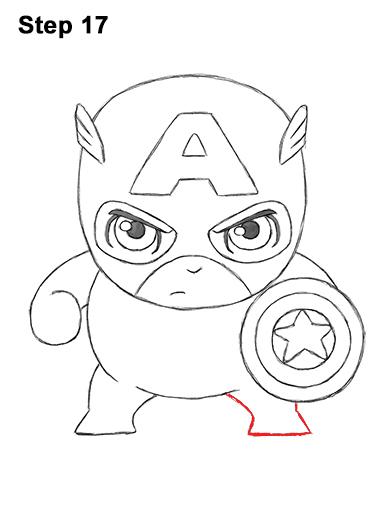 392x507 How To Draw Captain America (Mini)