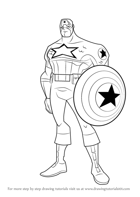 566x800 Learn How To Draw Captain America From The Avengers