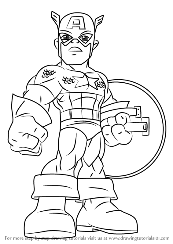 566x800 Learn How To Draw Captain America From The Super Hero Squad Show