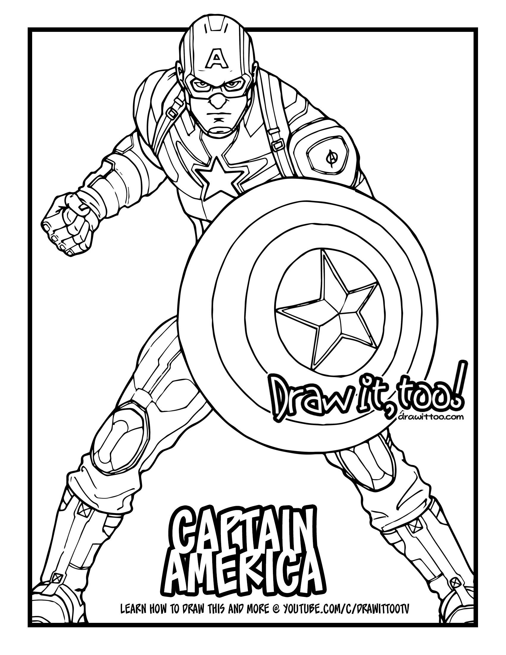 1700x2200 Captain America (Captain America Civil War) Drawing Tutorial