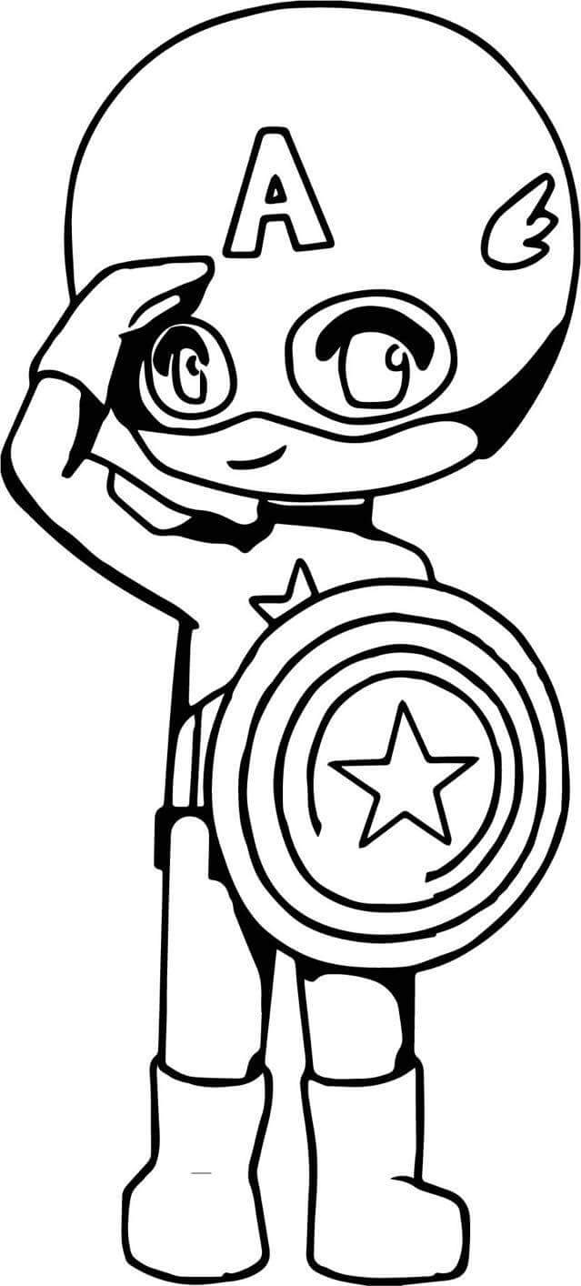 639x1414 Captain America Cartoon Coloring Pages