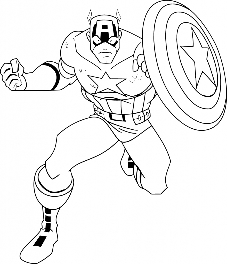 880x1024 Captain America Cartoon Drawing How To Draw Spiderman From Captain