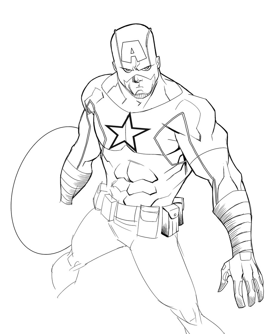900x1117 Captain America Cartoon Drawing Captain Americatheadriannelson