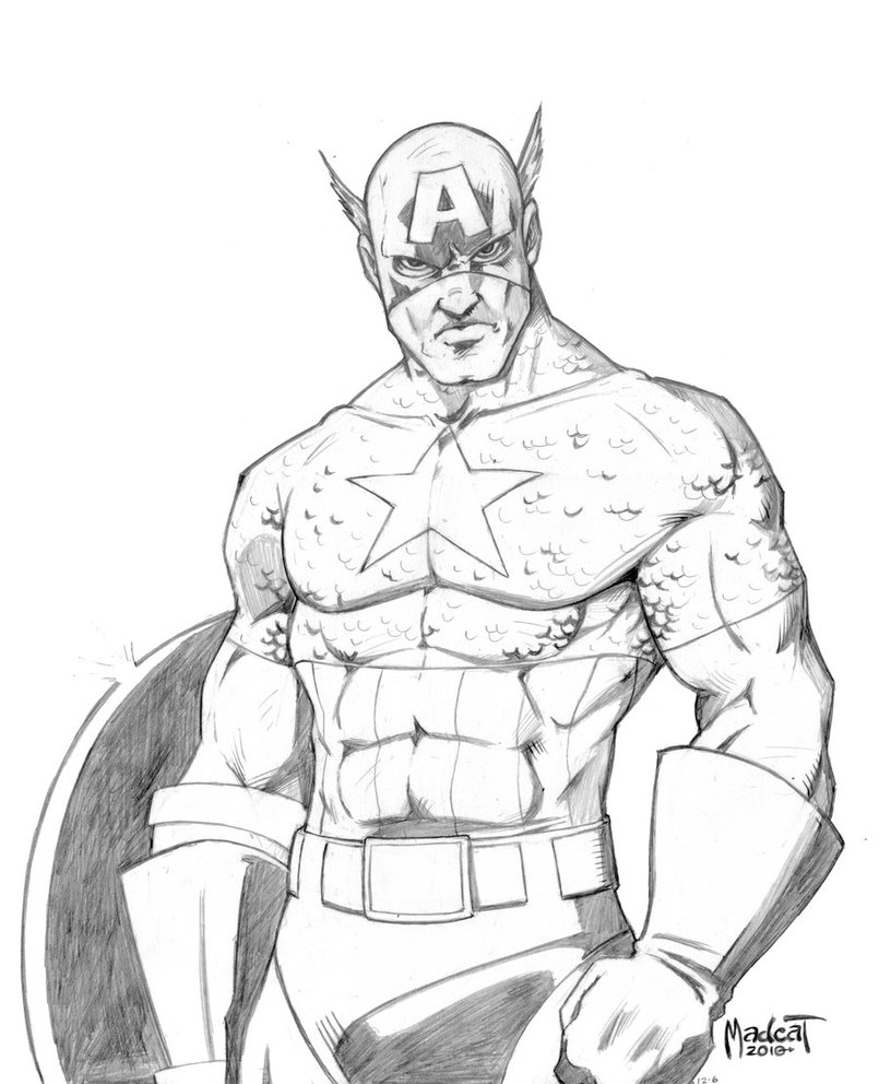 805x992 Captain America Drawings Captain Americadigital Paladin