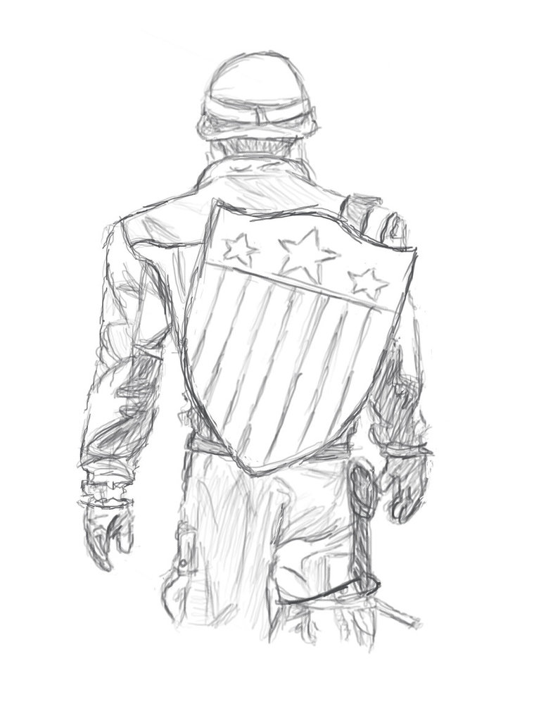 786x1017 Captain America Sketch By Ewrong