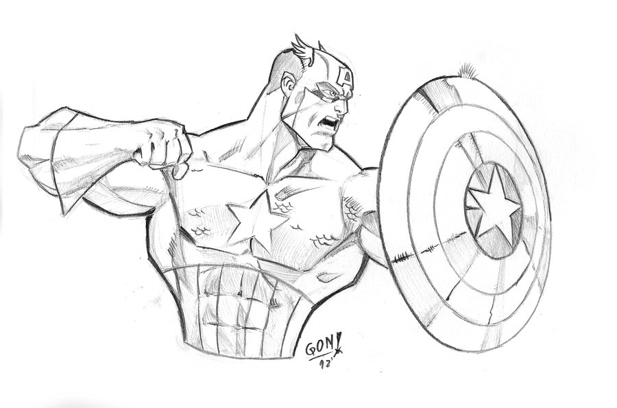 900x595 Captain America Tribute A Joe Mad By Pollomaxx