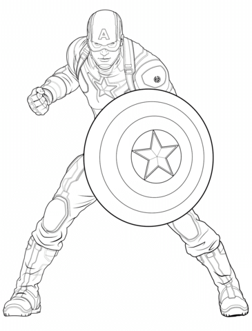 365x480 Avengers Captain America Coloring Page From Marvel's The Avengers