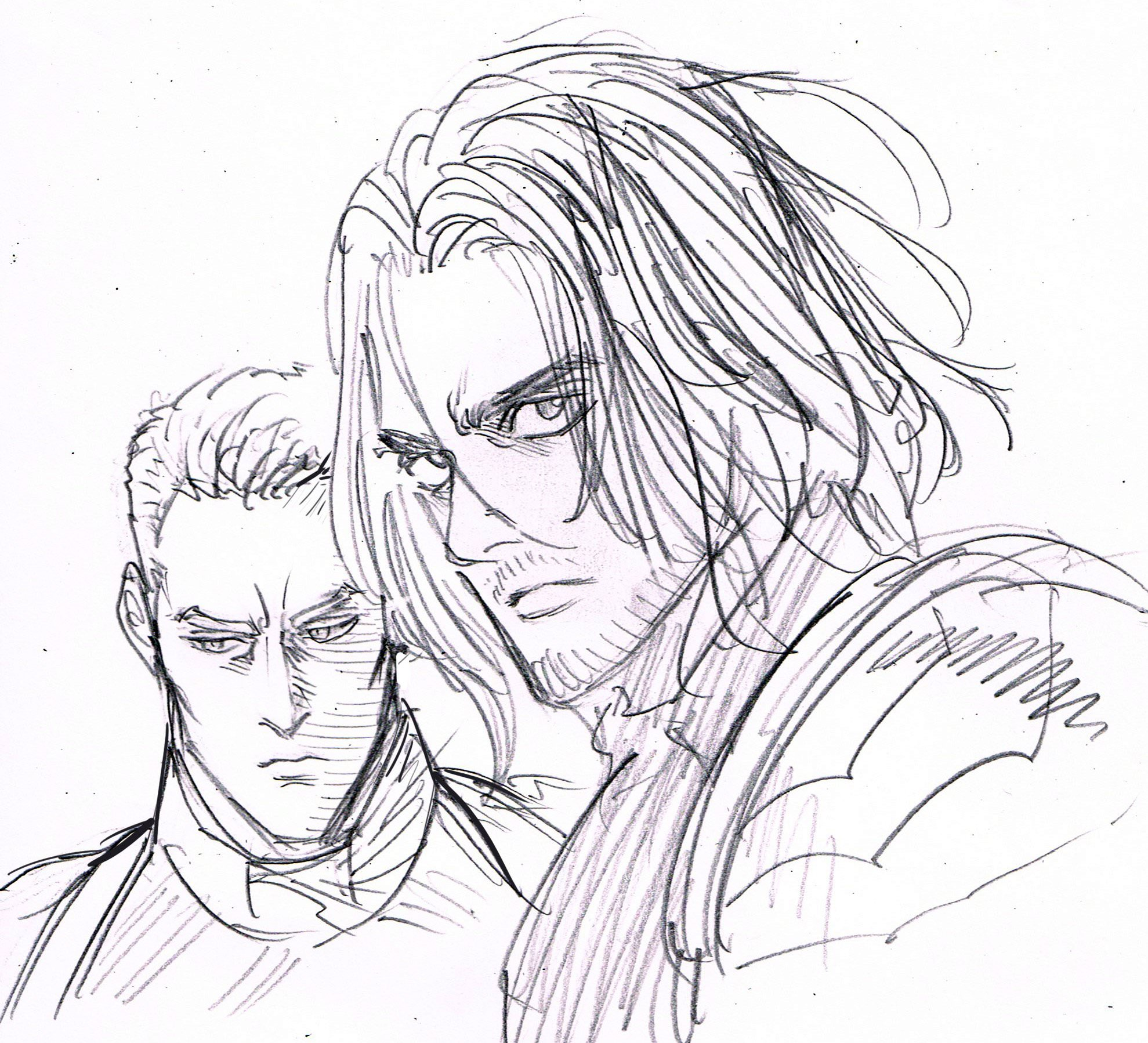 1979x1798 Captain America And Winter Soldier Sketch By One Punch Man'S