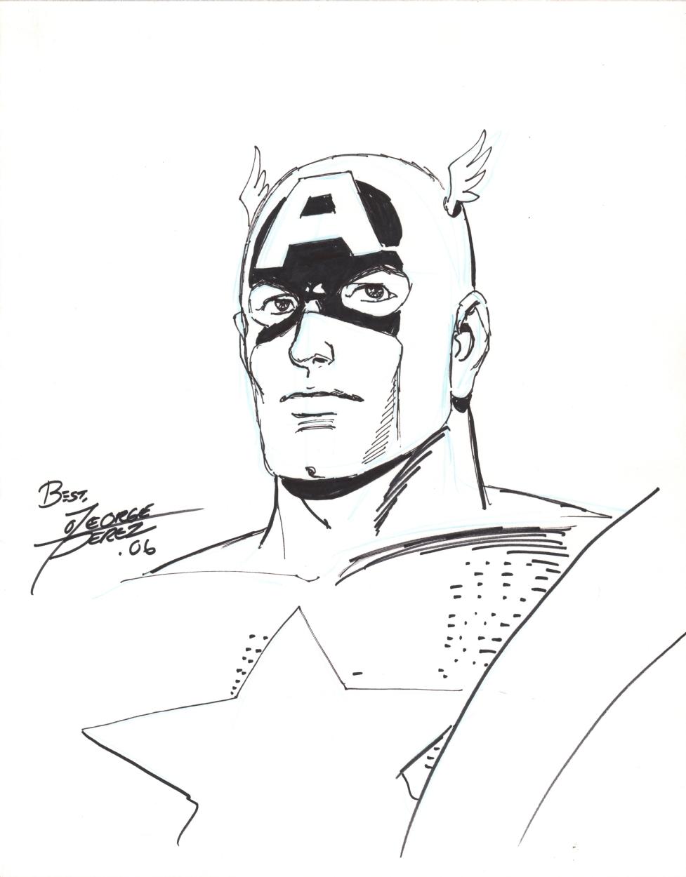 977x1250 Captain America Sketch