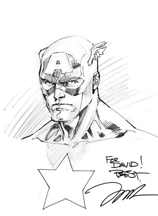 552x754 Captain America Sketch Jim Lee Illustration