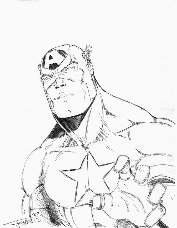600x774 Captain America Sketch The Bus By Demonplague