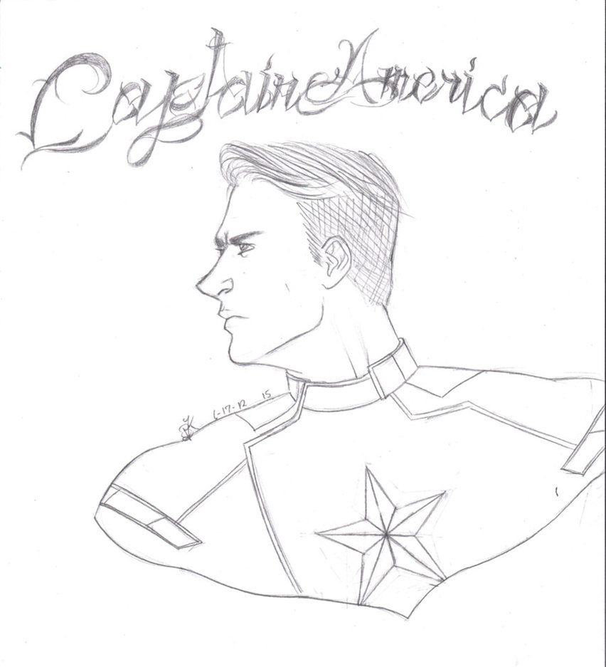 852x937 Captain America The First Avenger Sketch By Roxas Forever13