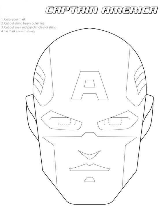 564x730 30 Printable Captain America Coloring Pages