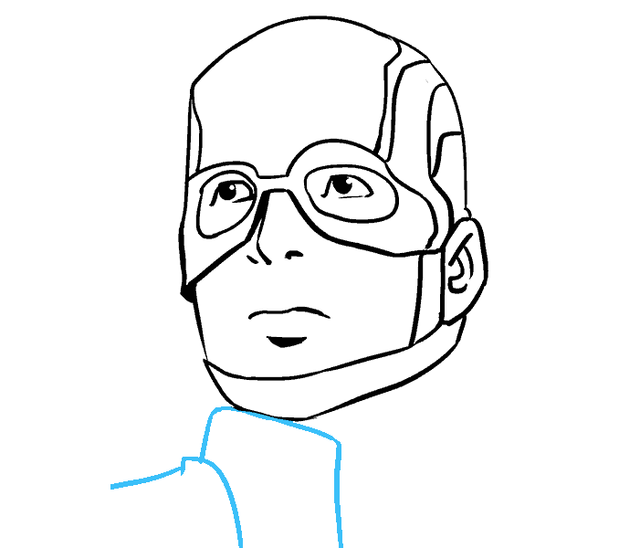 678x600 How To Draw Captain America In A Few Easy Steps Easy Drawing Guides
