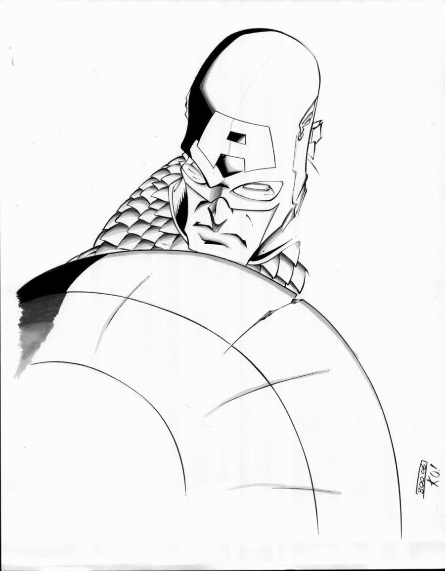 900x1155 Captain America Sketch By Tonykordos