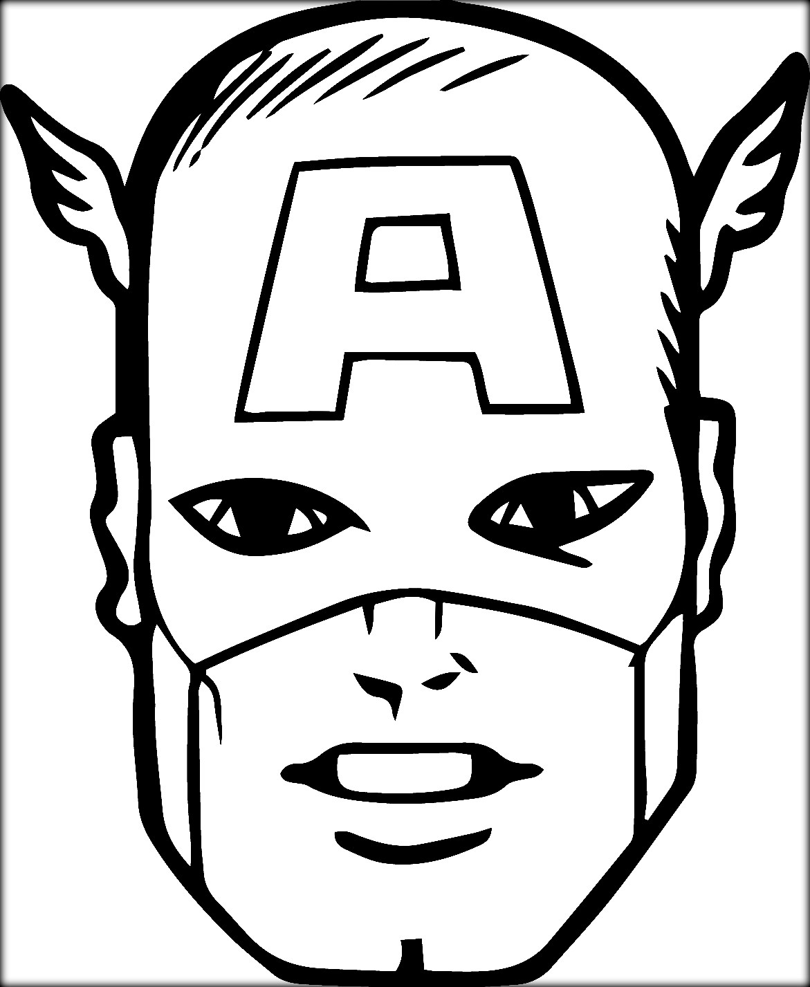 Captain America Face Drawing at GetDrawings.com | Free for personal ...