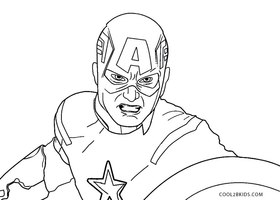950x679 Captain America Printable Coloring Pages Captain Printable