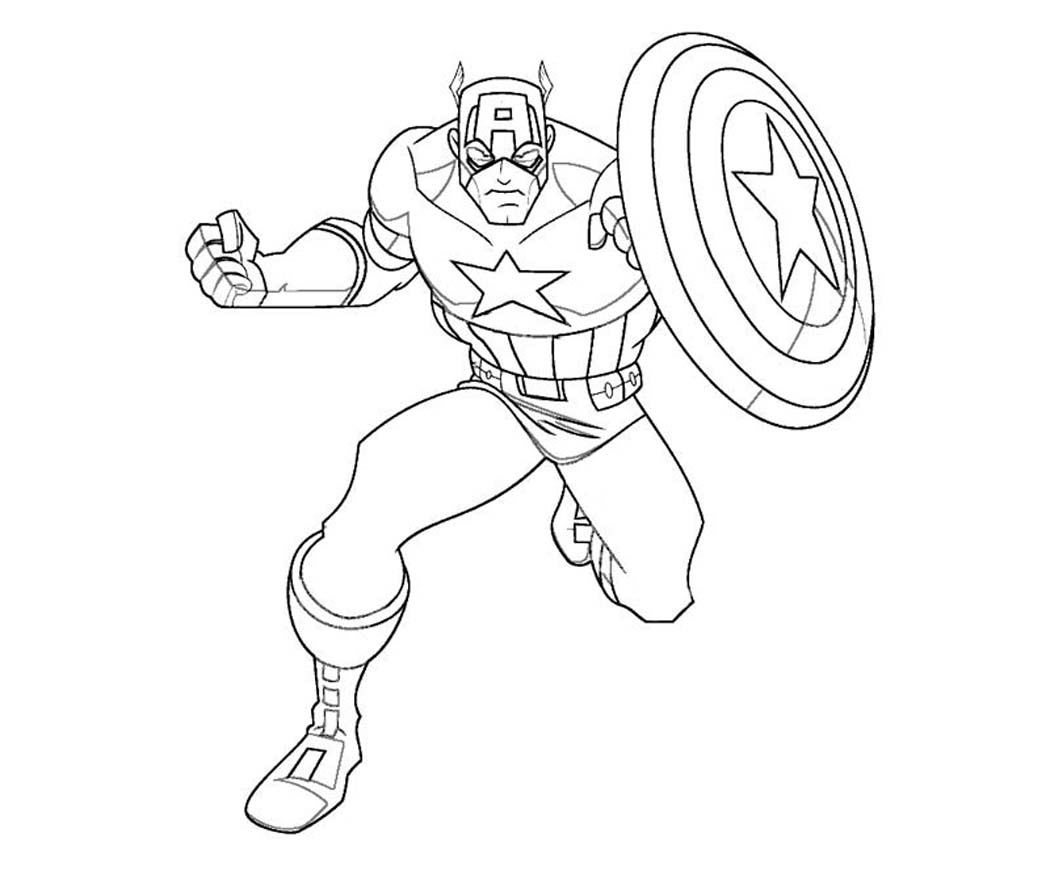 1050x875 Captain America Printable Coloring Pages Printable