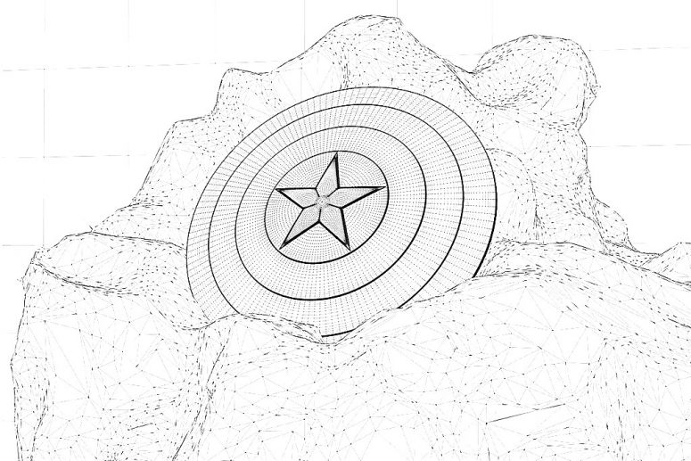 775x517 Captain America Shield Coloring Pages Printable Coloring Page