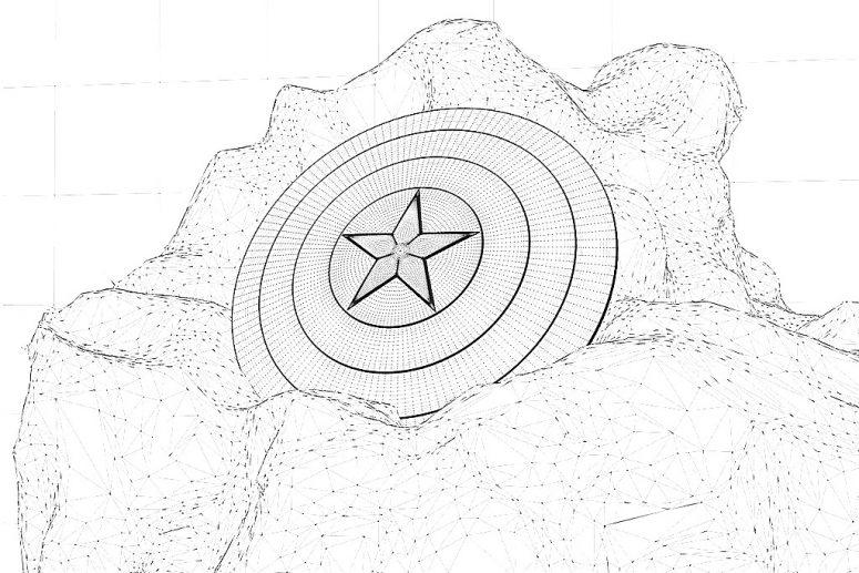 Captain America Shield Drawing At Getdrawingscom Free For - Captain-america-shield-coloring-page