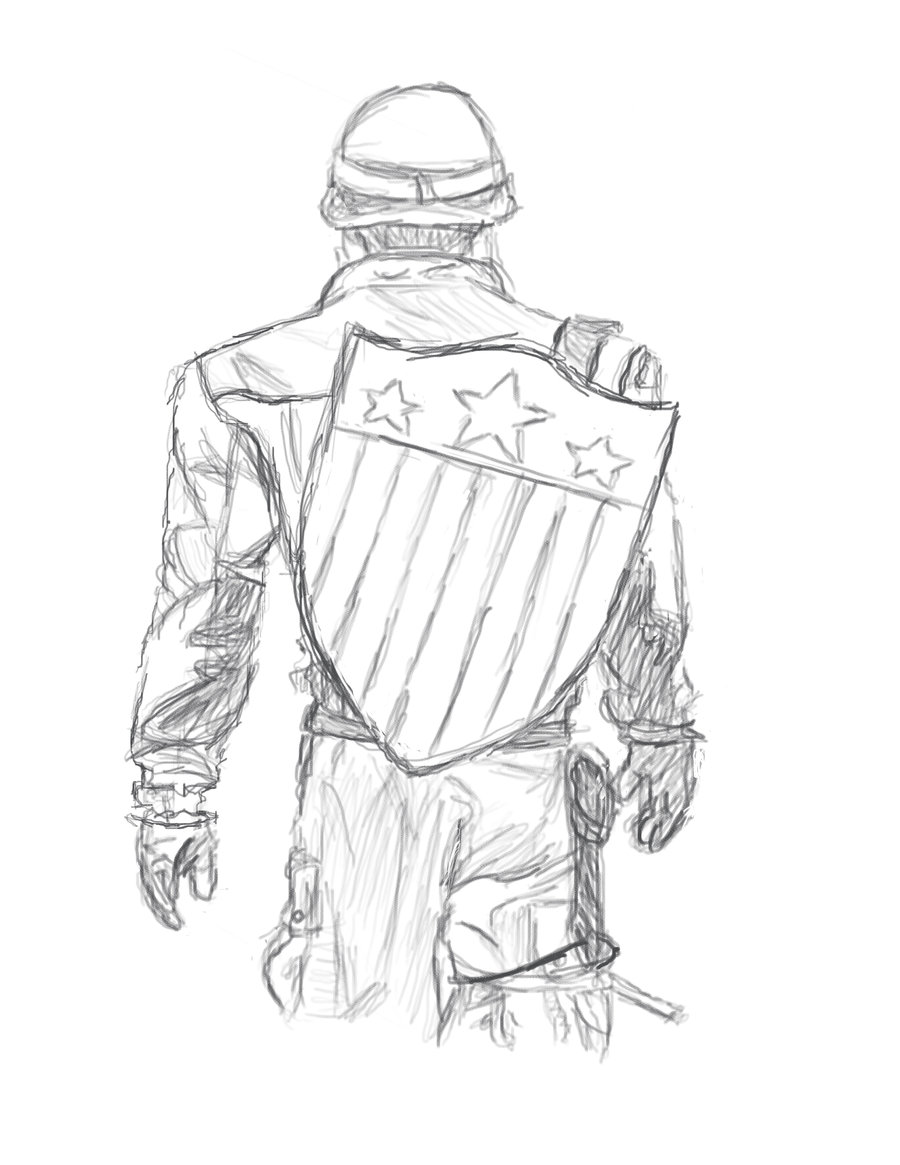 900x1165 Captain America Sketch By Ewrong