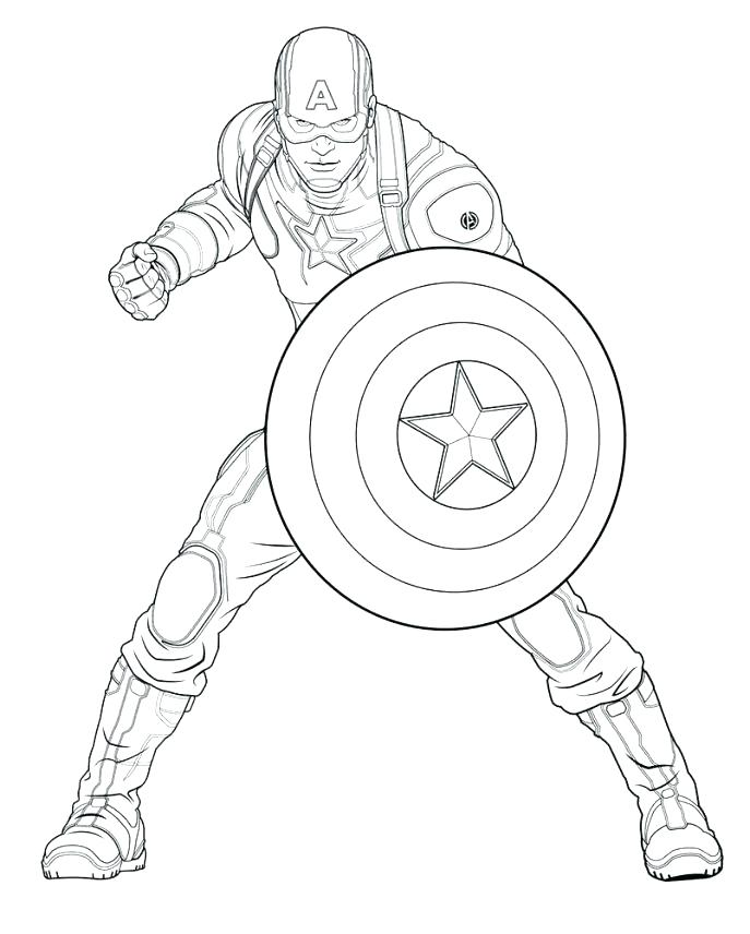 687x856 Coloring Pictures Of Captain America Captain Printable Coloring