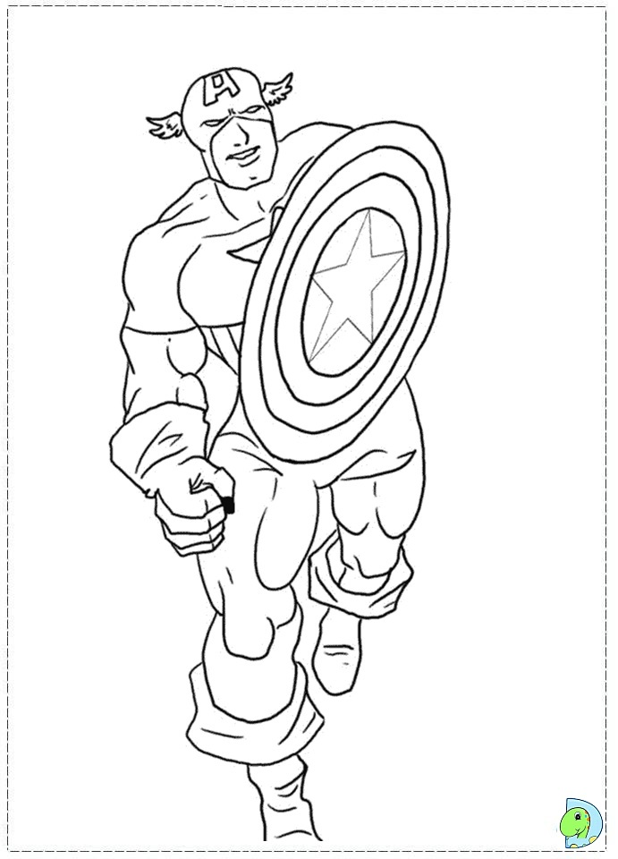 691x960 Amazing Of Excellent Captain America Coloringpage From C