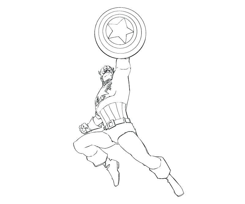 800x667 Captain America Shield Coloring Page