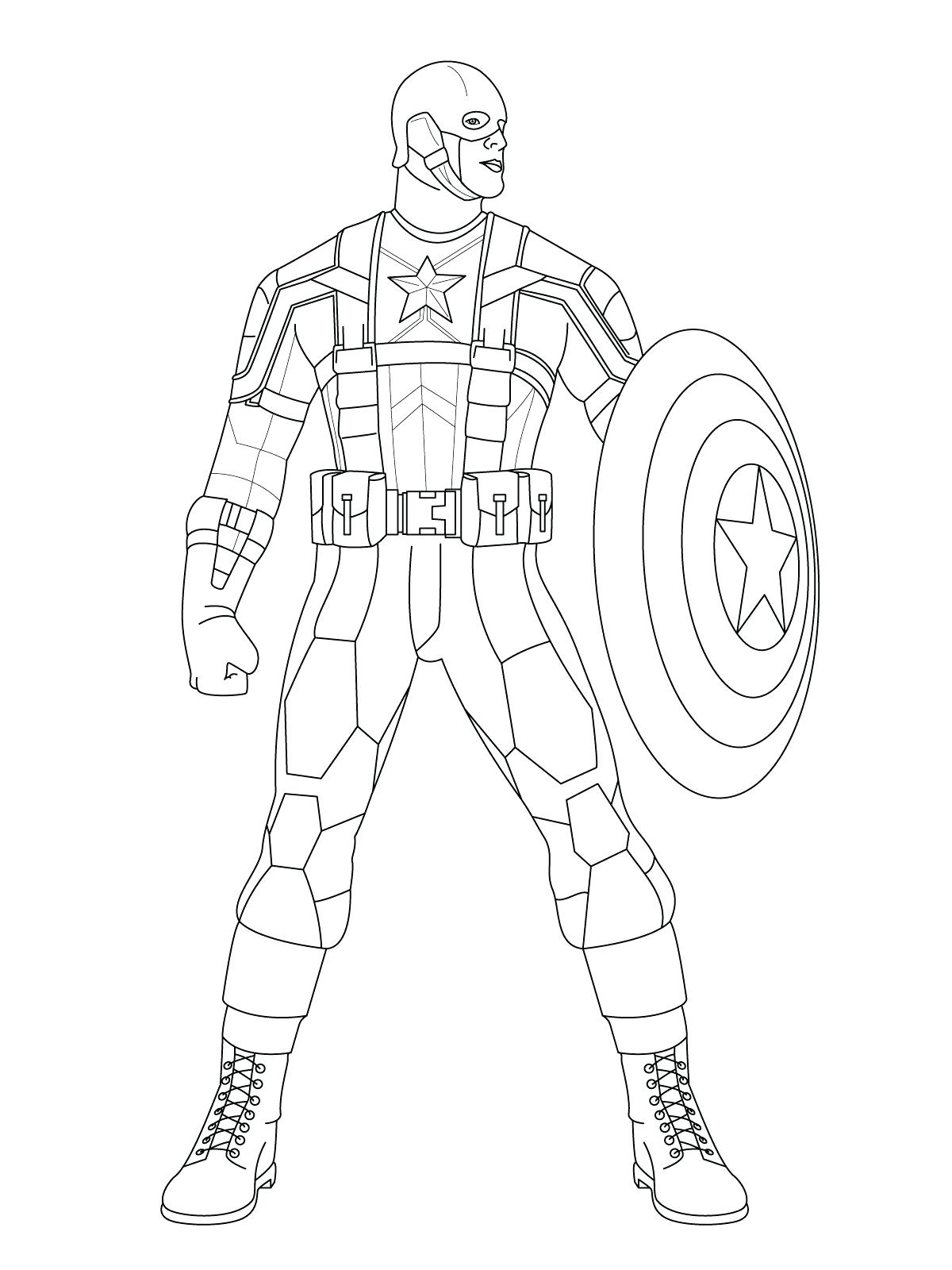1200x1600 Coloring Captain America Shield Coloring Page Attack With Amazing