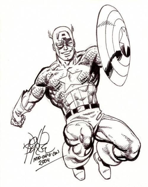 500x634 Captain America Convention Drawing By John Byrne . John Byrne