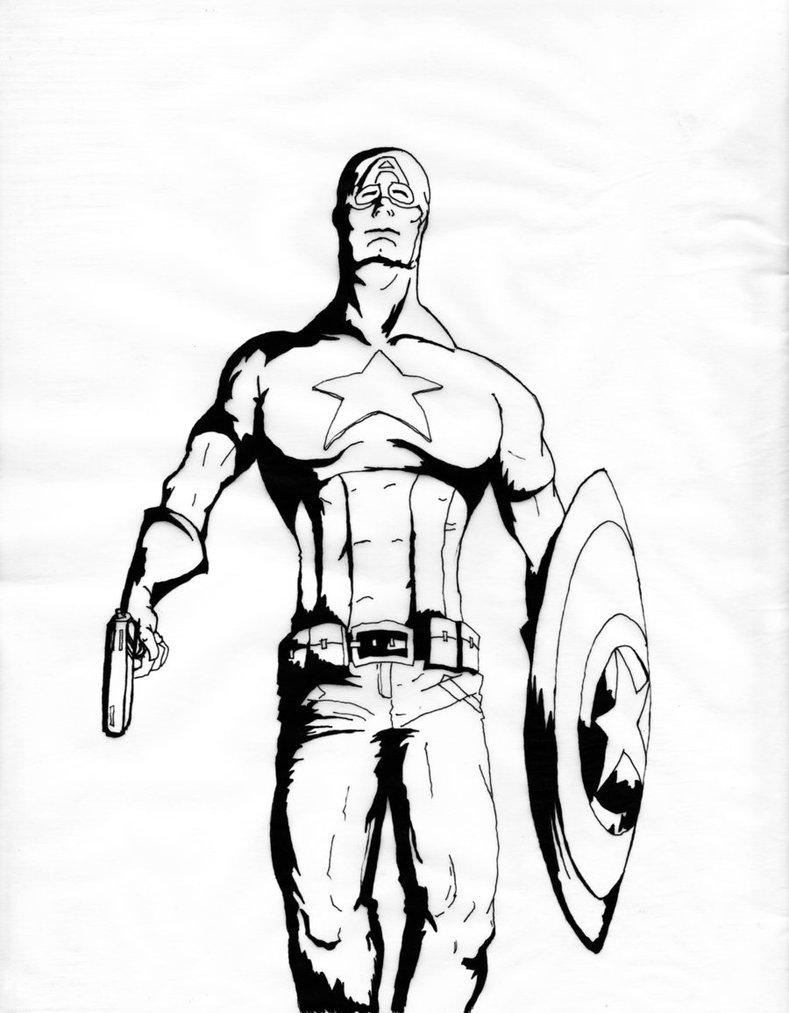 789x1013 Captain America Ink By Psycho Bob19