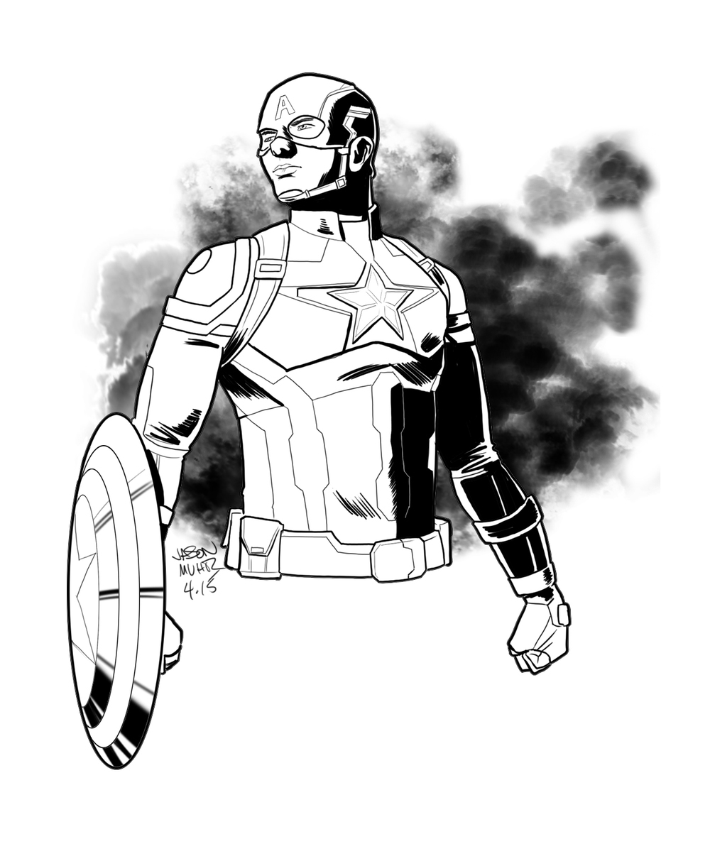1000x1213 Daily Sketch Captain America Age Of Ultron Jason Muhr