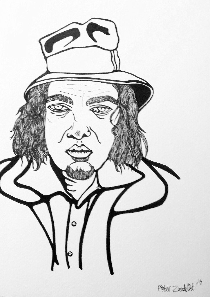 724x1024 Drawing Of The Day, Captain Beefheart