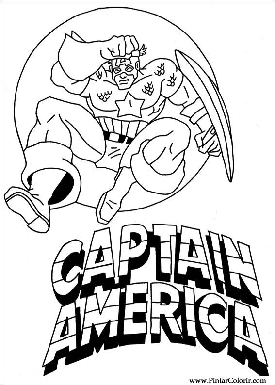 567x794 Drawings To Paint Amp Colour Captain America