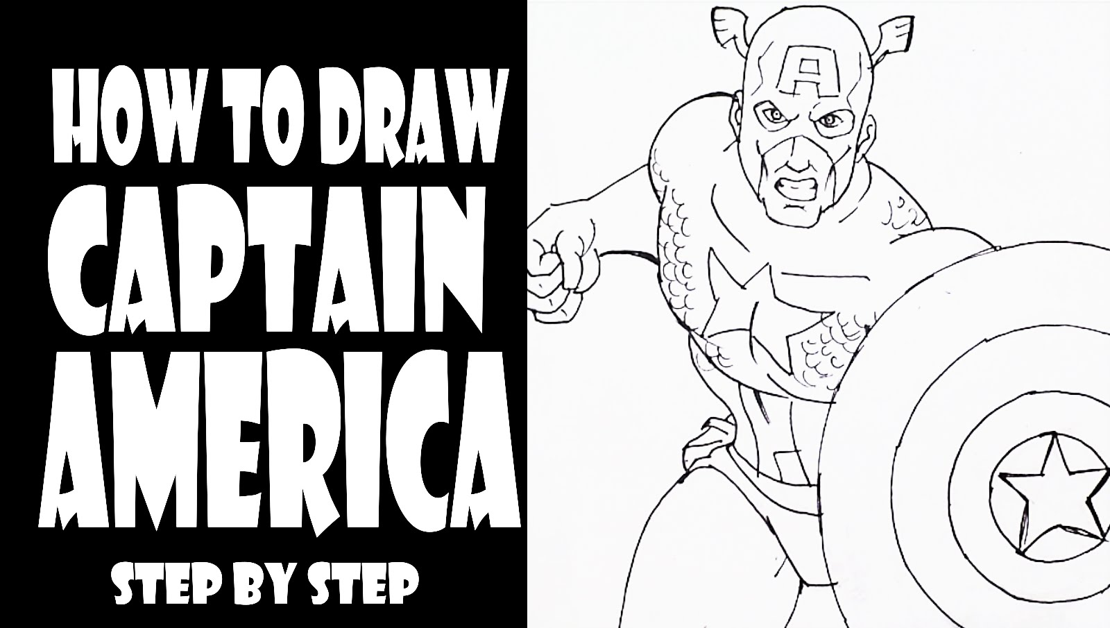 1600x905 How To Draw Captain America Step By Step