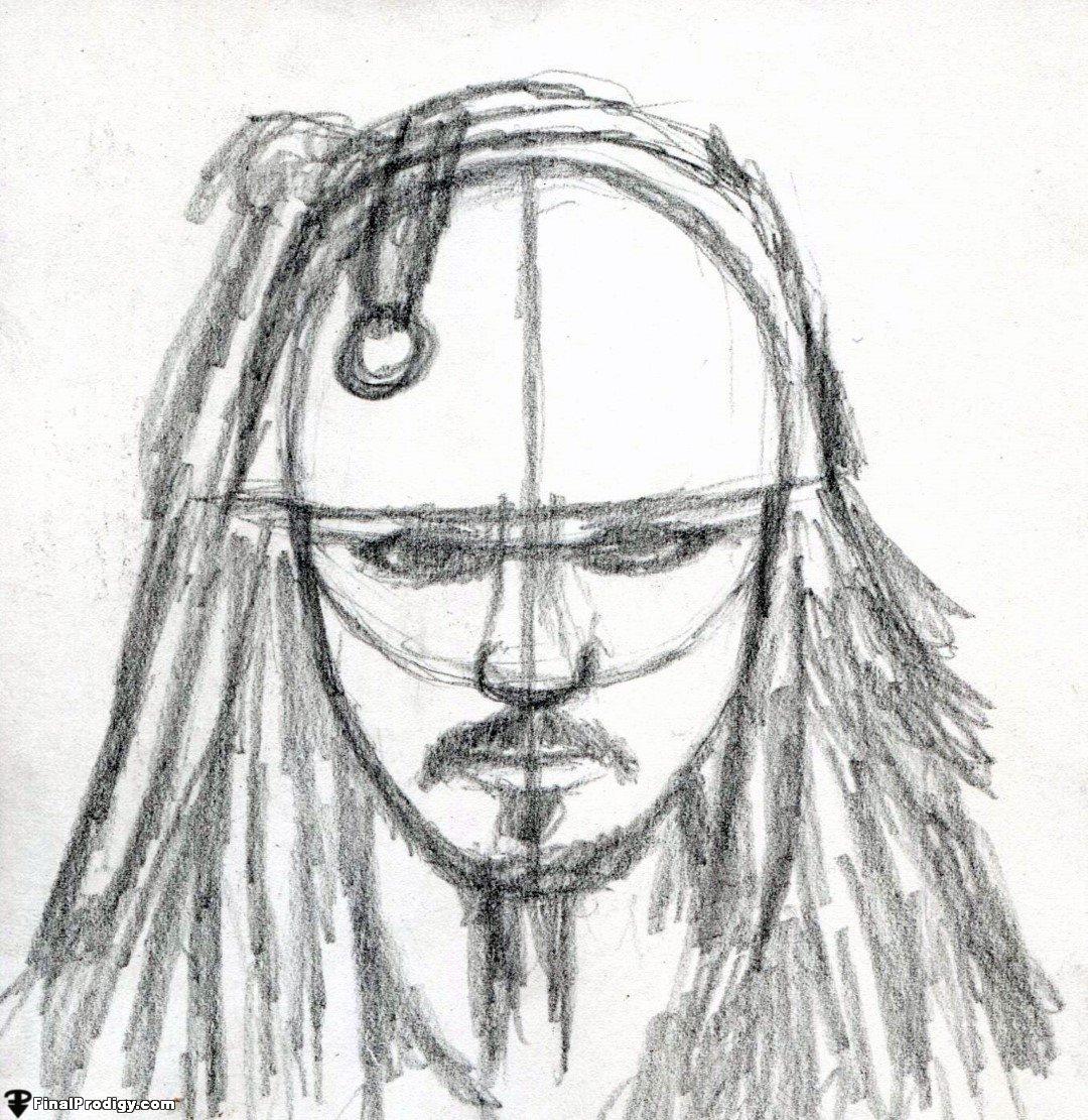 1080x1111 How To Draw Captain Jack Sparrow