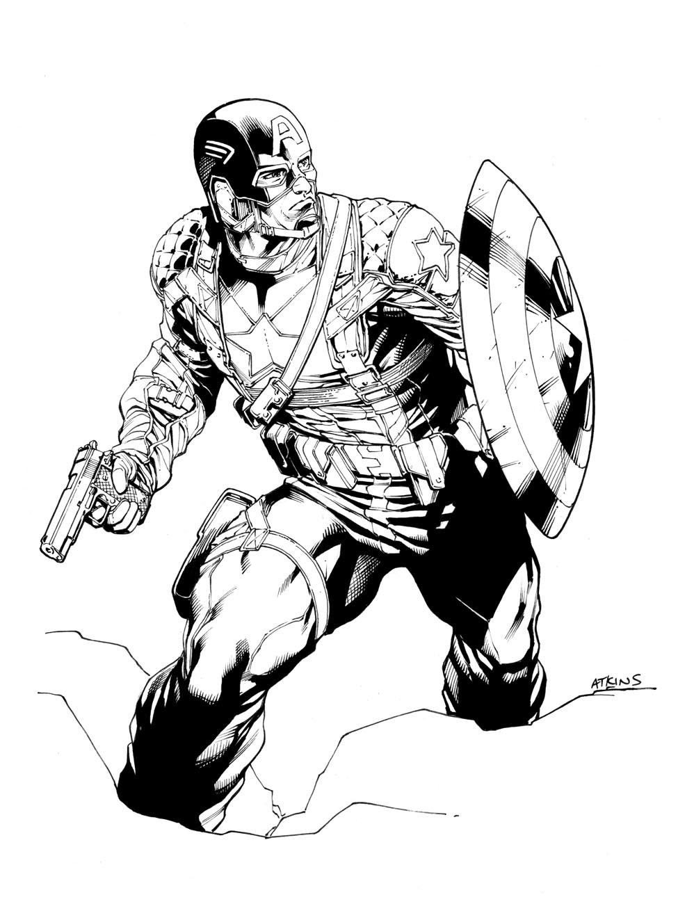 975x1300 Avengers April Captain America Robert Atkins Art