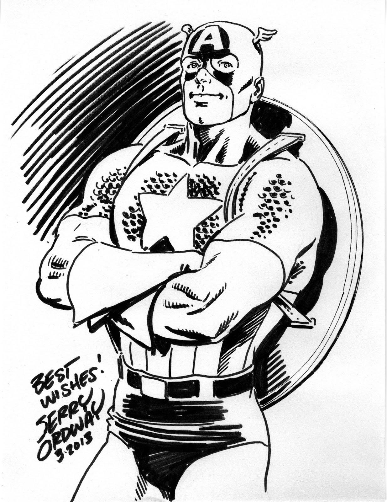 1235x1600 Ordster's Random Thoughts Captain America Original Sketch