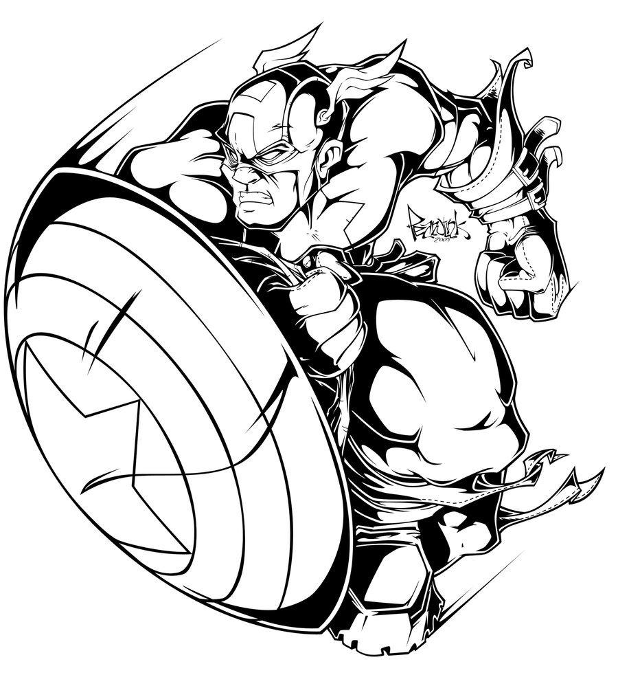900x982 Captain America Digi By Pnutink