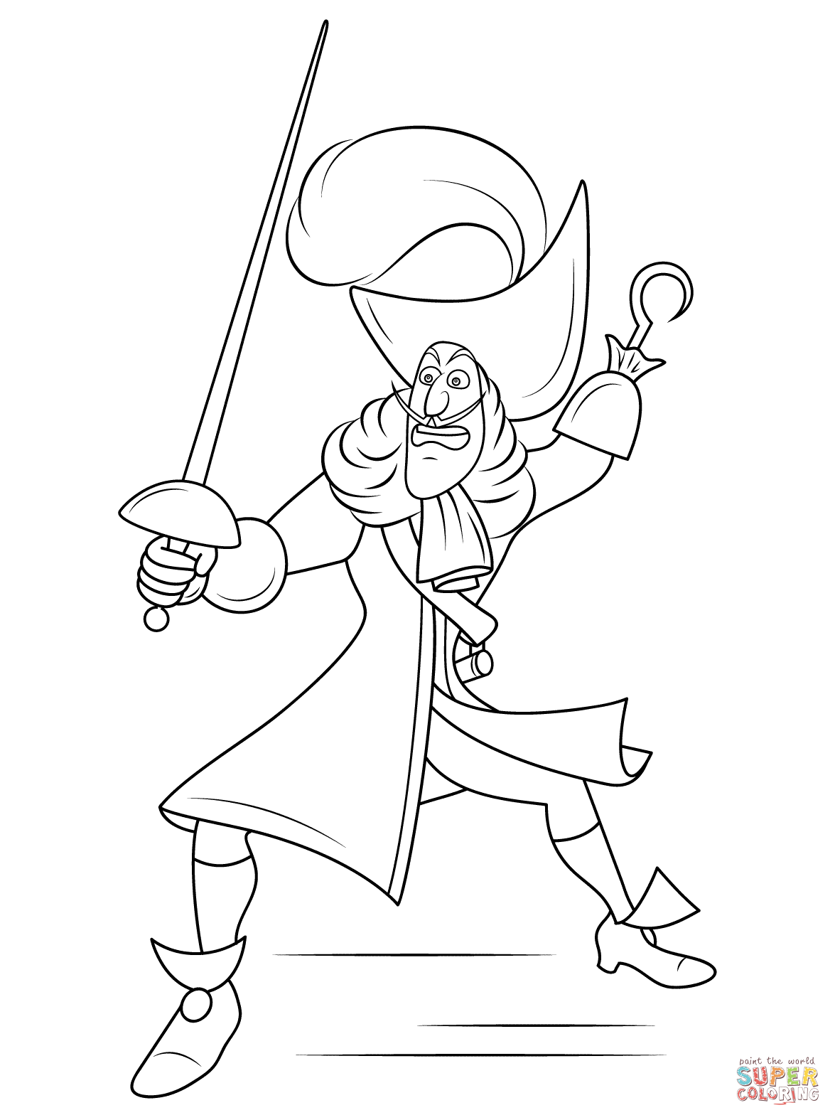 captain hook drawing at getdrawings  free download