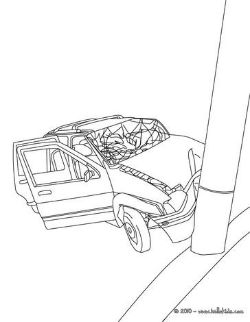 364x470 Car Crash Coloring Pages